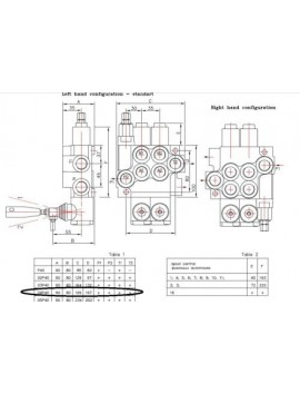 Monoblock directional control valve 120 l/min (32GPM) 4 spool double actiong