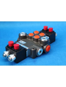 Directional control valve 2-spool hydraulic solenoid 80 l/min 21GPM 12VDC