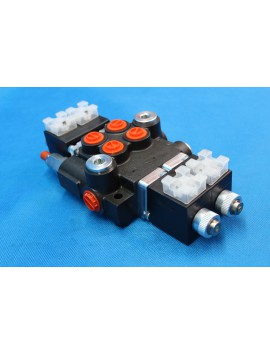 Directional control valve 2-spool hydraulic solenoid 50 l/min 13GPM 12VDC