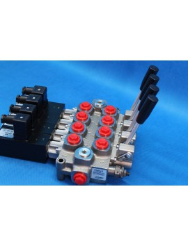 MONOBLOCK DIRECTIONAL CONTROL VALVE GALTECH Q45 60l/min 12 V 5 sections