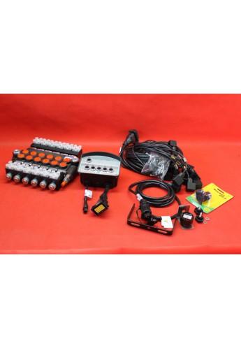 BANK MOTOR 5 SPOOL VALVE 50L/MIN ELECTRIC 12V  + CONTROL PANEL 12 V