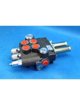 2 section hydraulic valve for loader 80 l/min 21GPM  double acting , valve for cable