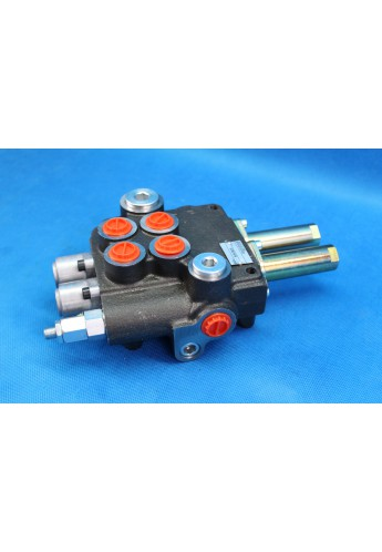 2 section hydraukic valve for loader 80 l/min 21GPM  double acting , valve for cables