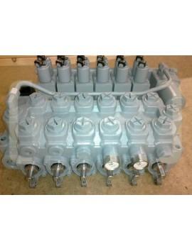 Hydraulic valve for crane 6 function NORDHYDRAULIC 24 V 125 l/min HIAB JONSERED PALFINGER