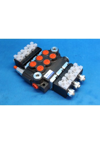 Directional control valve 3-spool hydraulic solenoid 50 l/min 13GPM 12VDC