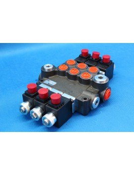BANK MOTOR 3 SPOOL VALVE 50L/MIN ELECTRIC 12V  + CONTROL PANEL 12 V