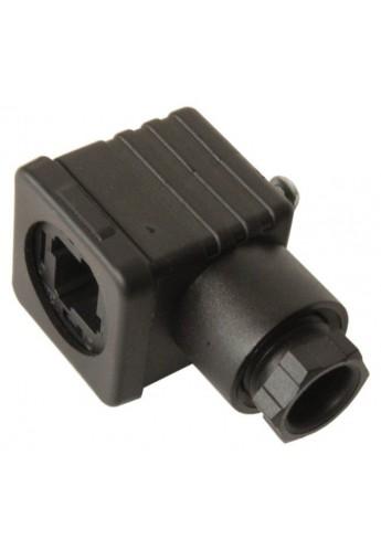 DIN PLUG 12 -24 V for hydraulic valve monoblock solenoid 3 pin