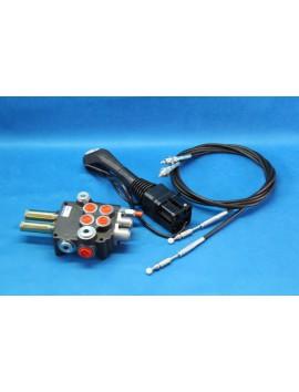 Hydraulic valve with joystick + for Loader 2 function Johne deere Zetor 40 l/min 14 gpm