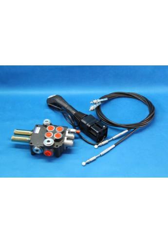 Hydraulic valve with joystick + for Loader 2 function Johne deere Zetor