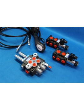 HYDRAULIC VALVE  KIT 4 function double way with 12v SOLENOID + CONTROL JOYSTICK Ursus Zetor MF Case