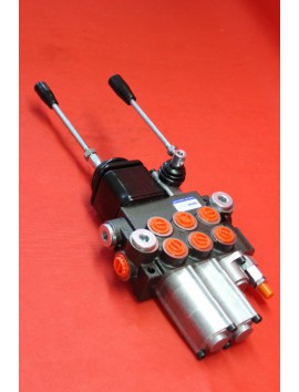 Control valve 3 section 40 l/min (11GPM)  with 2 swimming section 1 x joystick + 1 x lever
