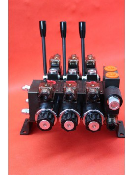 Directional control valve 3-spool hydraulic solenoid 40 l/min 11GPM 12 V
