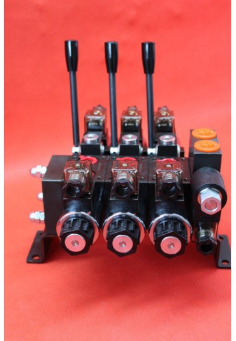 Directional control valve 3-spool hydraulic solenoid 40 l/min 11GPM 24 V