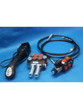 Hydraulic valve kit with joystick 3 function double acting for Kubota 40l/min 11GPM 12V
