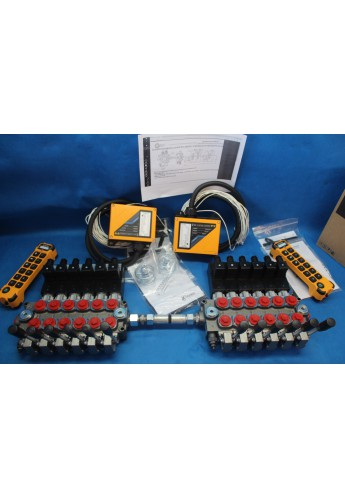 MONOBLOCK HYDRAULIC BANK MOTOR 12 SPOOL VALVES 60 l/min 24V + REMOTE RADIO 2 PILOT KOMATSU DX 65