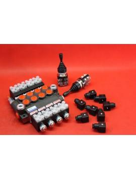 Directional valve 4 function + 2 joysticks + 8 DIN plugs  50 l/min 13GPM 12VDC