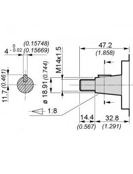 Gear pump Group 3 Galtech 62 cc rev 3SPA62DG