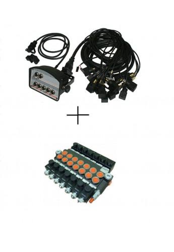 BANK MOTOR 6 SPOOL VALVE 50L/MIN ELECTRIC 12V  + CONTROL PANEL 12 V