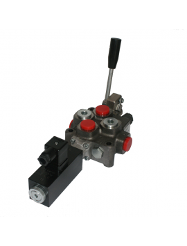 1 SECTION DIRECTIONAL CONTROL VALVE GALTECH Q95 120 l/min 31 GPM Electric solenoid 12V + levers