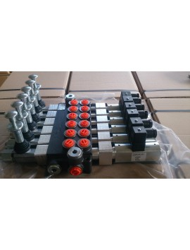 MONOBLOCK SECTIONAL VALVE  SOLENOID CONTROL 6 SPOOL 12V 50l/min 13