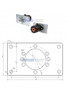 Orbital motor SMR 80 BMP 80 OMP 80 EMP 80  Shaft 25mm with mounting plate