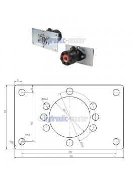 Orbital motor SMR 100 BMP 100 OMP 100 EMP 100  Shaft 25mm with mounting plate
