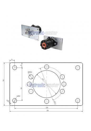 Orbital motor SMR 100 BMP 100 OMP 100 EMP 100  Shaft 25mm