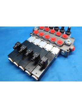 Wrecker tow truck 11 SECTIONS DIRECTIONAL CONTROL VALVE GALTECH Q95 120 l/min 31 GPM Electric solenoid 12V + levers