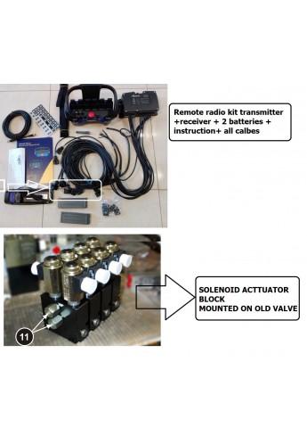 Remote radio Scanreco 4 function + hydraulic modules for Hydrocontrol valve 12 or 24 V