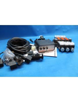 BANK MOTOR 3 SPOOL VALVE 50L/MIN ELECTRIC 12V  + CONTROL PANEL 12 V