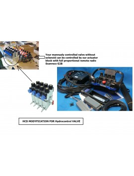SD Actuator kit to mount on WALVOIL valve 4 functions 12 V or 24 V