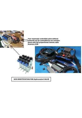 HCD Actuator kit to mount on Hydrocontrol valve 4 functions 12 V orb24 V