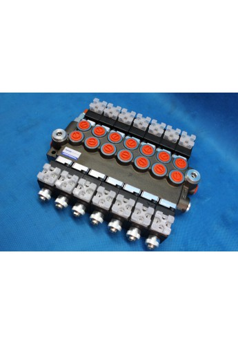 Directional control valve 7-spool hydraulic solenoid 50 l/min 13GPM 12VDC