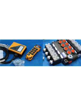 radio control juuko 800  hydraulic valve 4 spool 80 l/min 12VDC