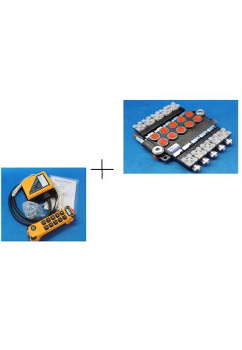 juuko 1000  radio control hydraulic valve 5 spool 50 l/min 12VDC