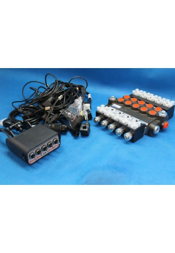 Directional control valve 5-spool hydraulic solenoid 50 l/min 13GPM 12VDC
