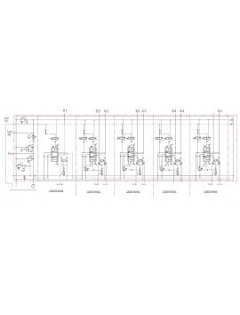 Hydraulic valve 4 functions 120l/min 33 GPM Full proportional 12 V  Crane + remote radio SCANRECO