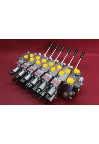 Hydraulic valve 6 functions 120l/min 33 GPM Full proportional 24 V  Crane
