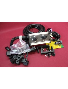 Control Panel with 2 joysticks with cables 12-24v for 4 functions hydraulic valve