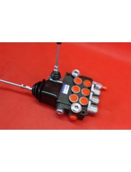 Monoblock directional control valve 80 l/min (21GPM) 3 spool double actiong + joystick