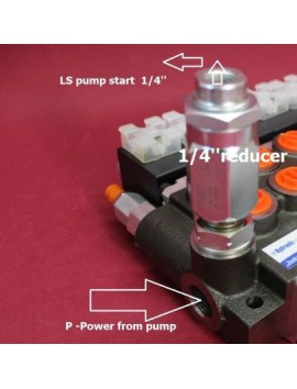 Reducer 1/4'' for convert open to closed center valve for valves P80 Z80 80l/min 21gpm