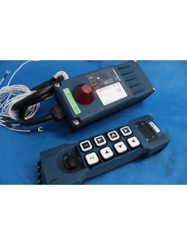 MONOBLOCK HYDRAULIC BANK MOTOR 4 SPOOL VALVES 90 l/min 24gpm 12 V + REMOPTE RADIO HM-LINE 800