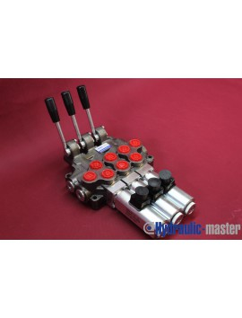 Monoblock Directional control valve 3 section (double way)  60 l/min 12V 16 gpm
