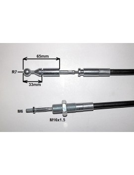 CABLE FOR JOYSTICK FOR HYDRAULIC VALVE 2.5 METER LENGHT