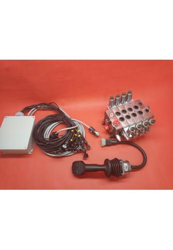 Hydraulic valve 4 functions Full proportional 100l/min + Control Joystick 12 V