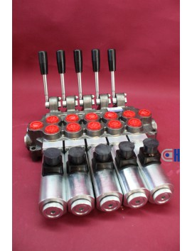 Monoblock Directional control valve 2 section (double way)  60 l/min 12V 16 gpm