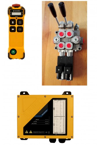 Monoblock hydraulic control valve with 2 spools a motor for Hydraulic motor control valve