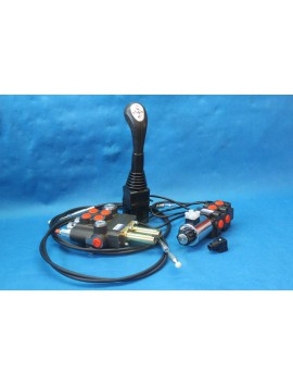 Hydraulic valve kit 3 functions double acting tractor loader 3rd function Joystick 21 gpm 80 l/min