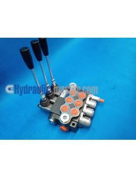 Monoblock directional control valve 40 l/min (11GPM) 3 spool double action