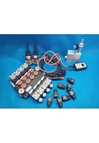 Monoblock hydraulic valve Vale 4-way electric 50 l / min + 2 joysticks + proportional